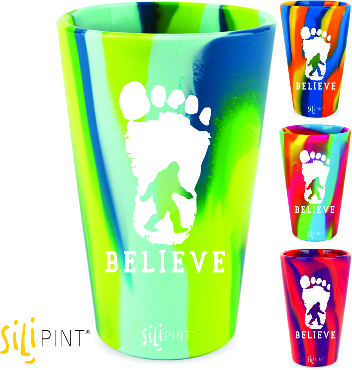 Bigfoot Footprint 16oz. Silicone Silipint - Assorted Colors